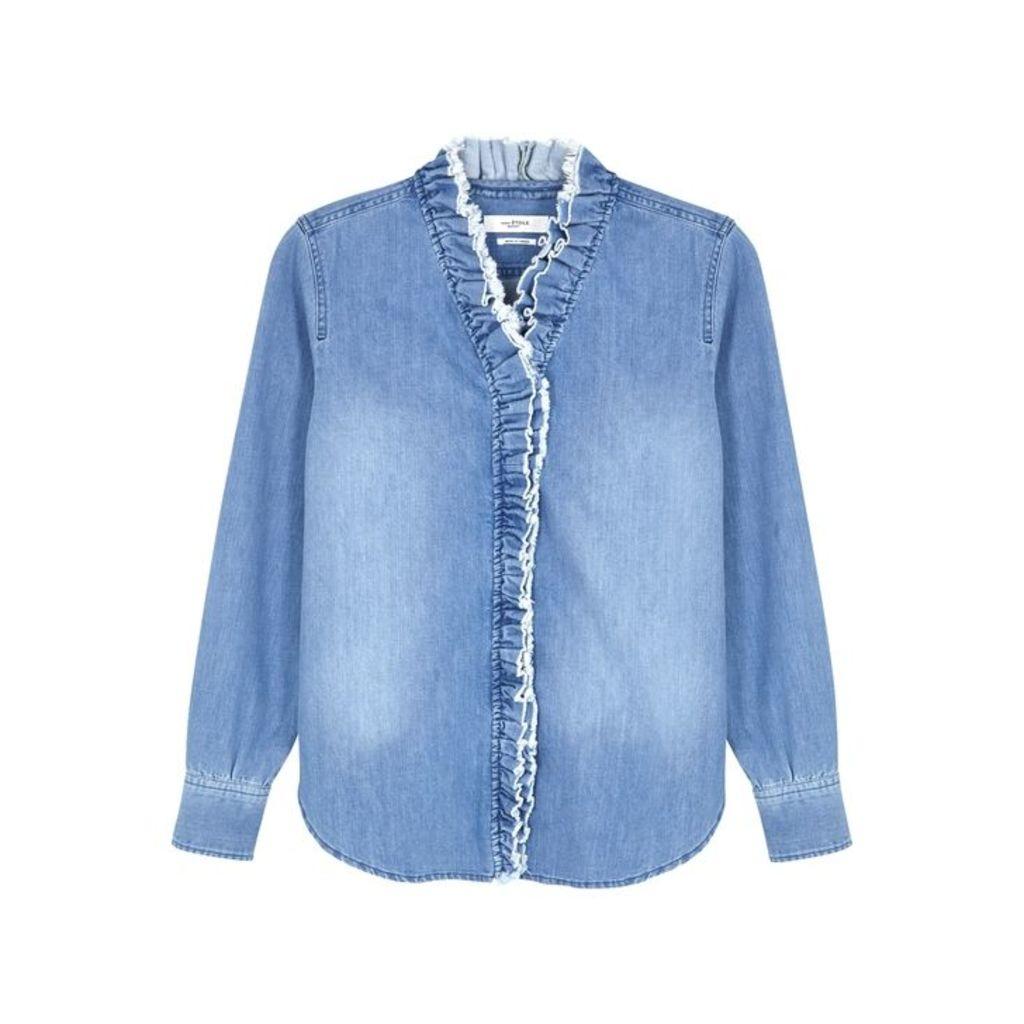 Isabel Marant Étoile Nawendy Ruffle-trimmed Denim Shirt