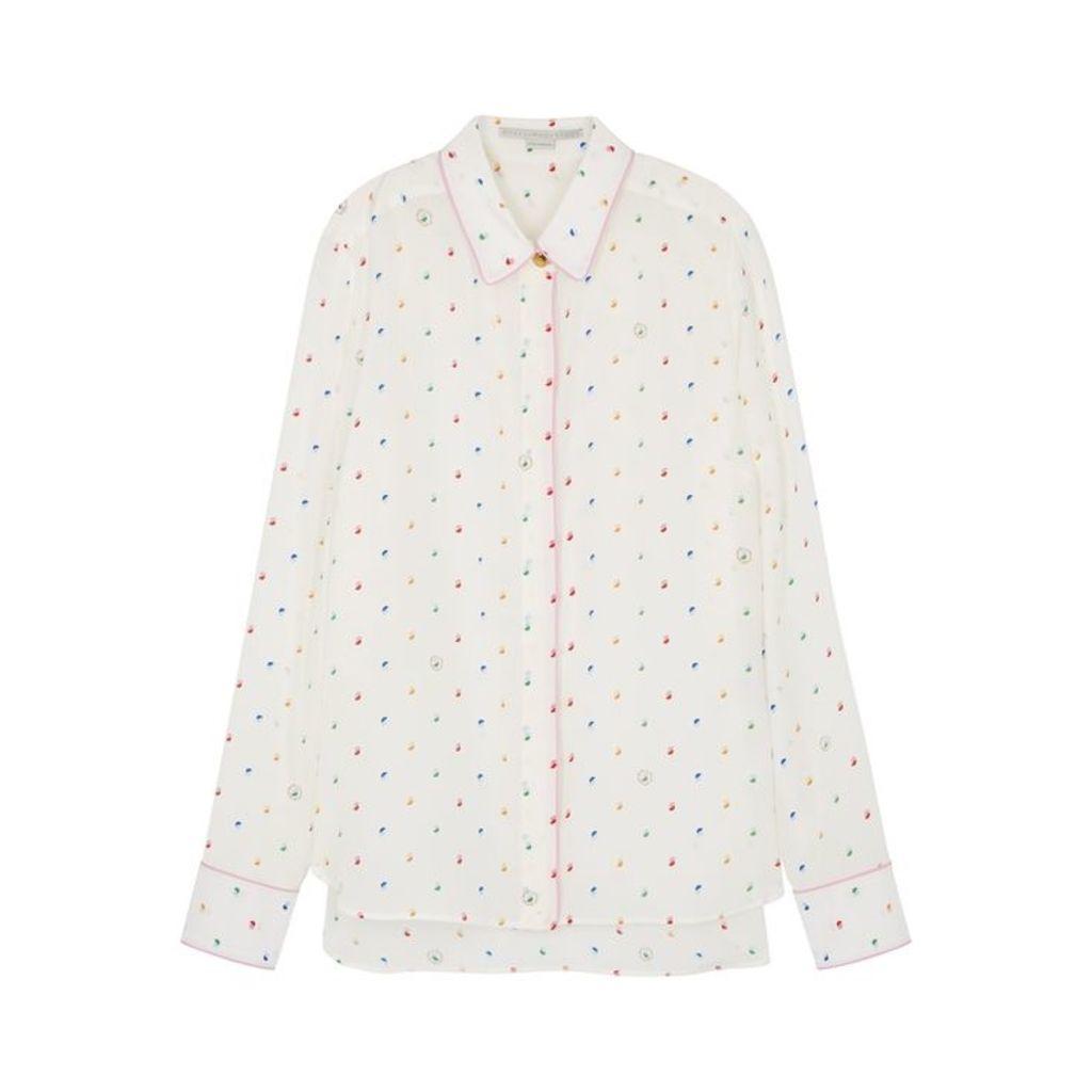 Stella McCartney Ivory Printed Silk Shirt