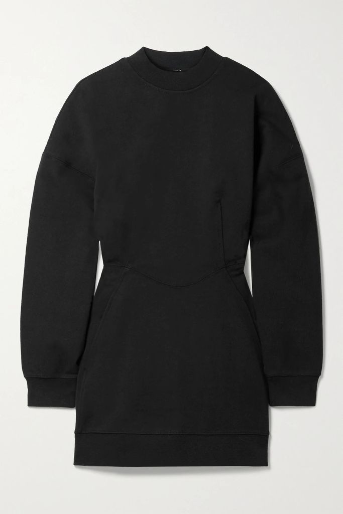 Atlantique Ascoli - Rope-trimmed Cotton And Linen-blend Poplin Midi Skirt - Navy