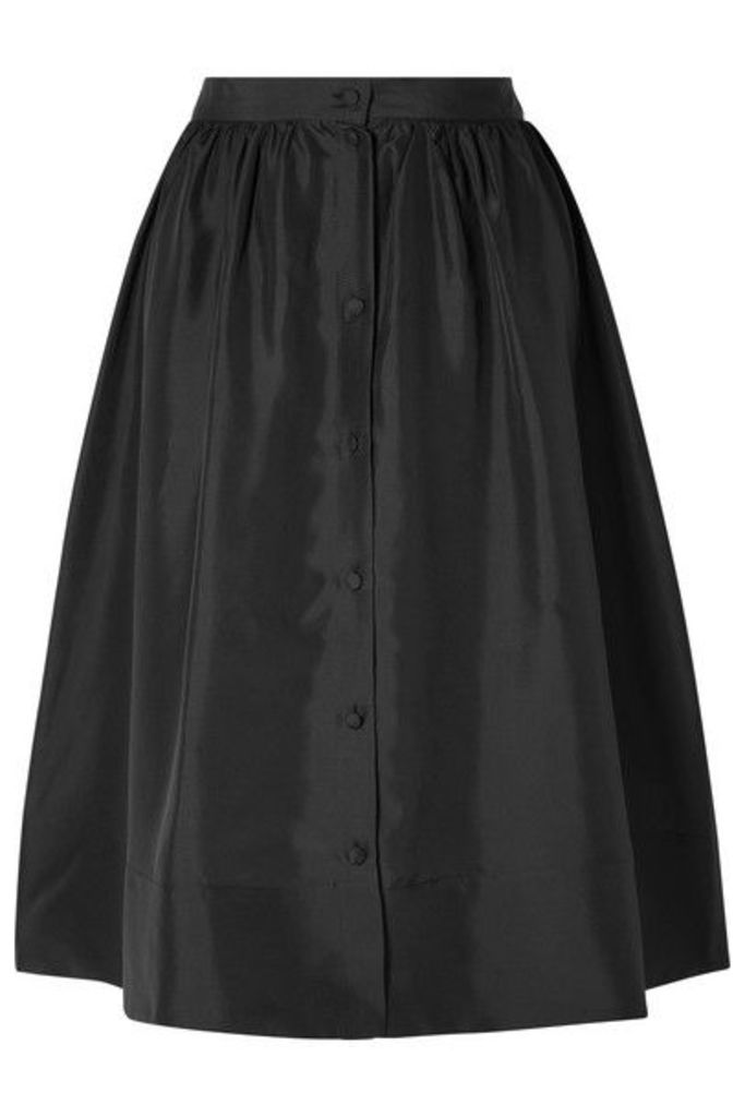 Deitas - Nina Silk-twill Midi Skirt - Black