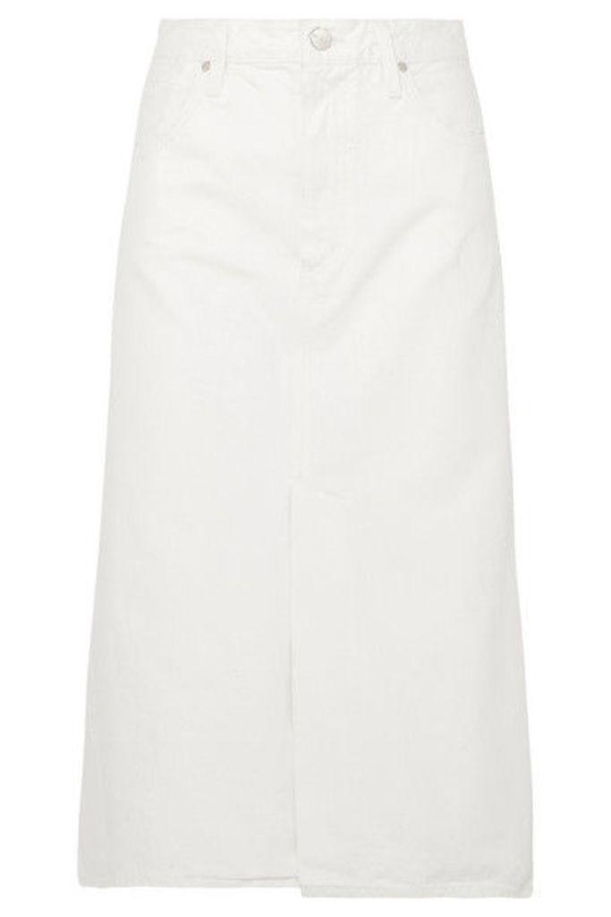 Goldsign - The A Denim Midi Skirt - White
