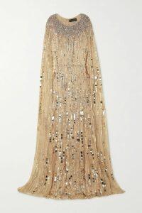 Alexandre Vauthier - Ruffled Paneled Lace And Crepe Midi Dress - Black