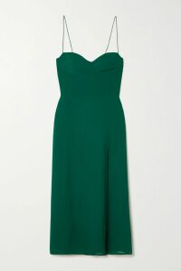 Marni - Ostrich-effect Leather Midi Skirt - Peach