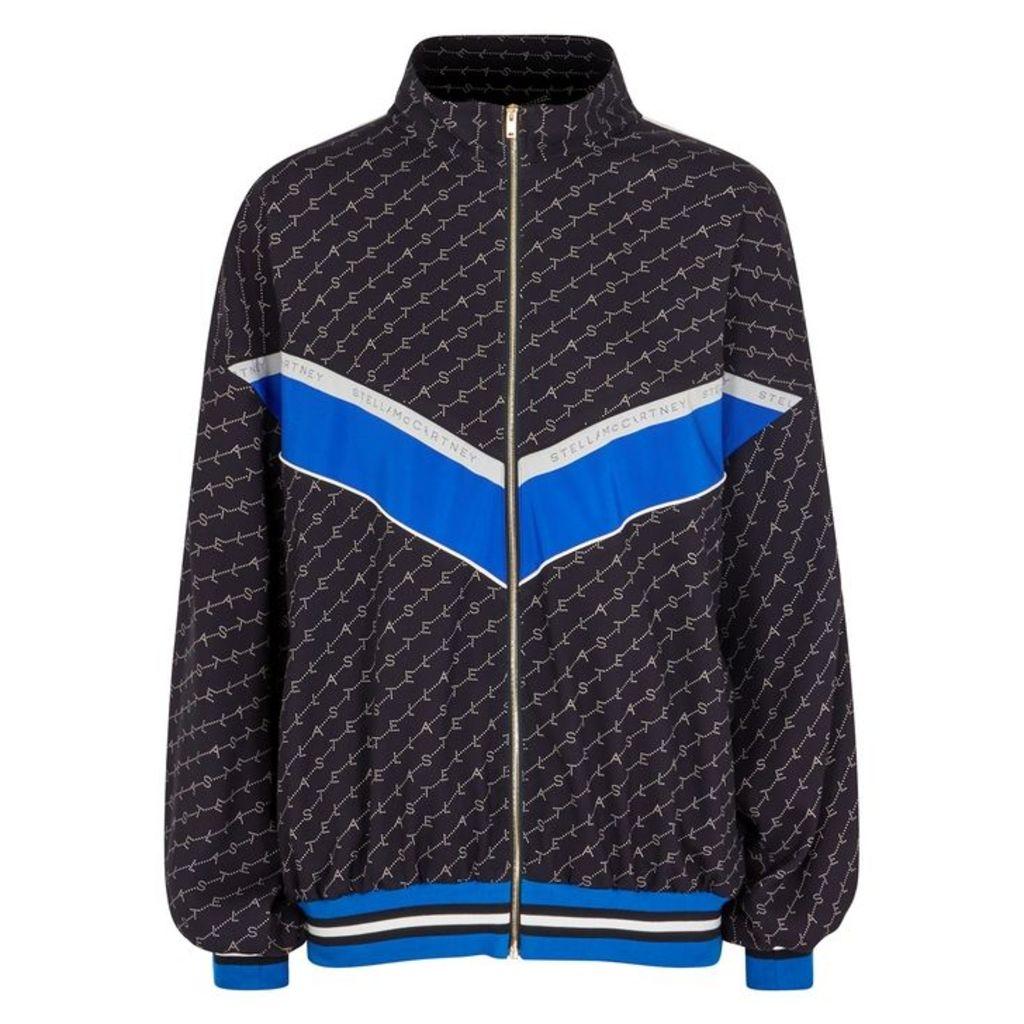 Stella McCartney Navy Monogrammed Bomber Jacket