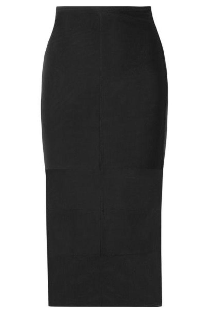 Mugler - Paneled Stretch-tulle Midi Skirt - Black
