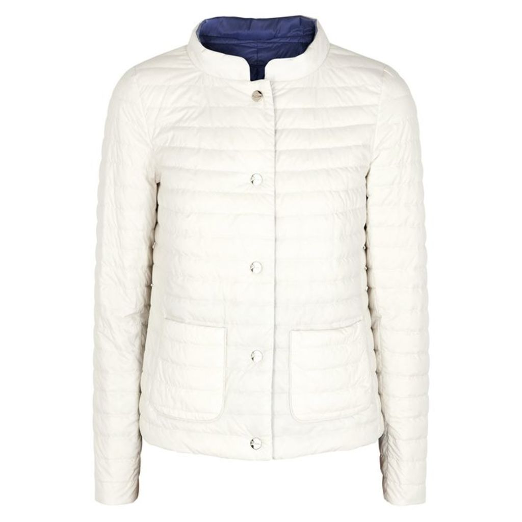 Herno Off-white Reversible Quilted Shell Jacket