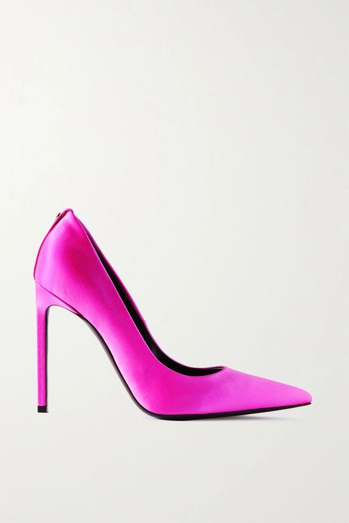 Gabriela Hearst - Striped Wool And Cashmere-blend Midi Skirt - Burgundy