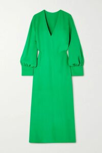 Ulla Johnson - Auveline Floral-print Cotton And Silk-blend Midi Skirt - Blue
