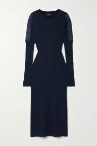 Mary Katrantzou - Crystal Pleated Printed Silk-moire Dress - Black