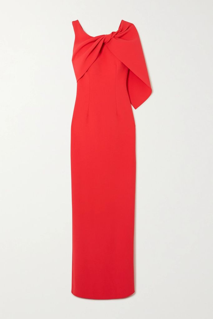 Carolina Herrera - Floral-print Silk Crepe De Chine Midi Dress - Blue