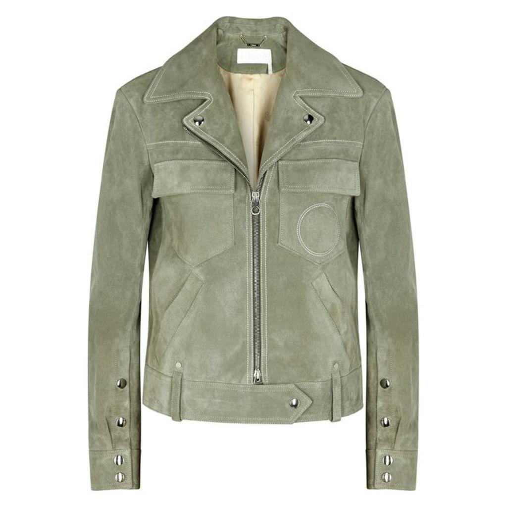 Chloé Sage Suede Jacket