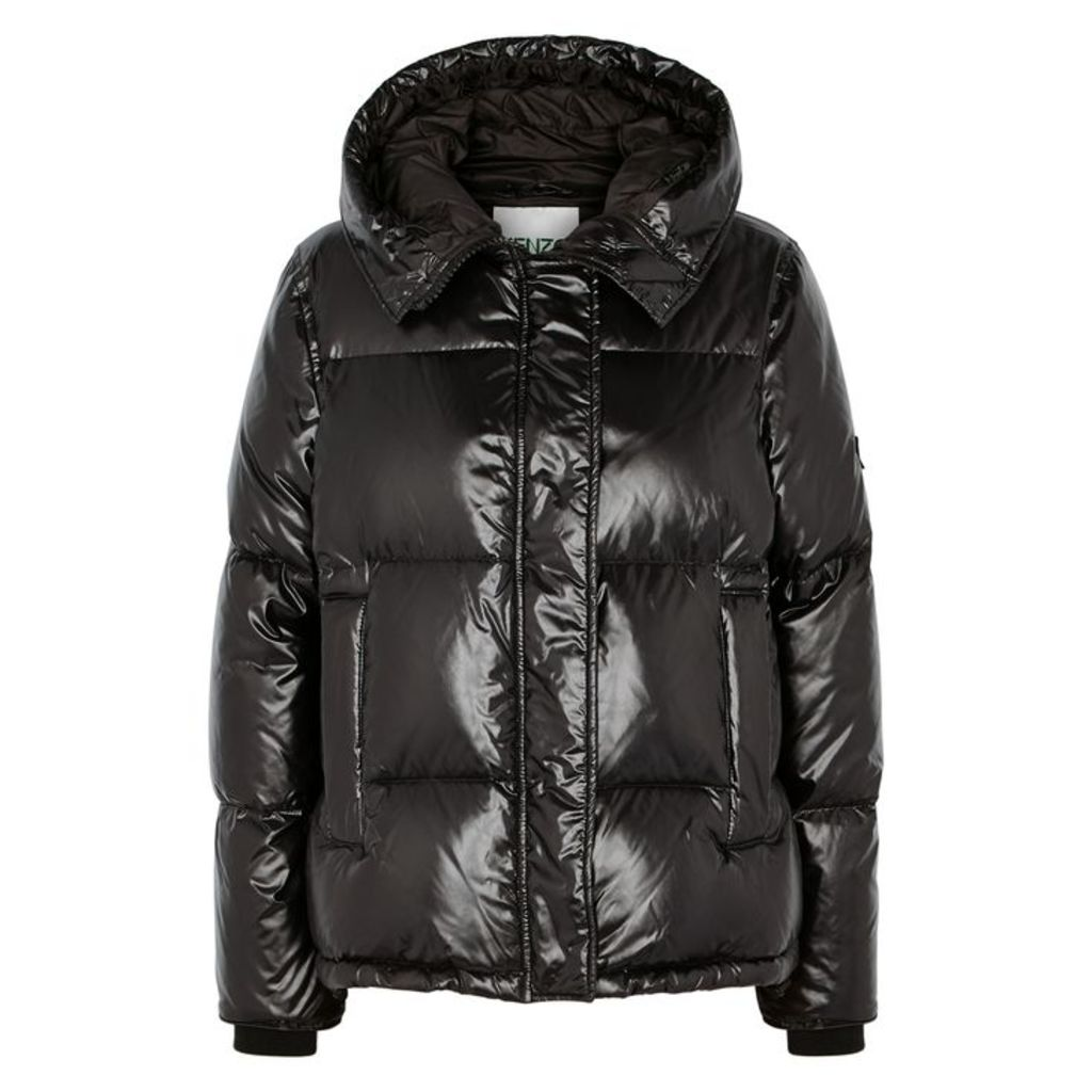 KENZO Black Quilted Shell Jacket