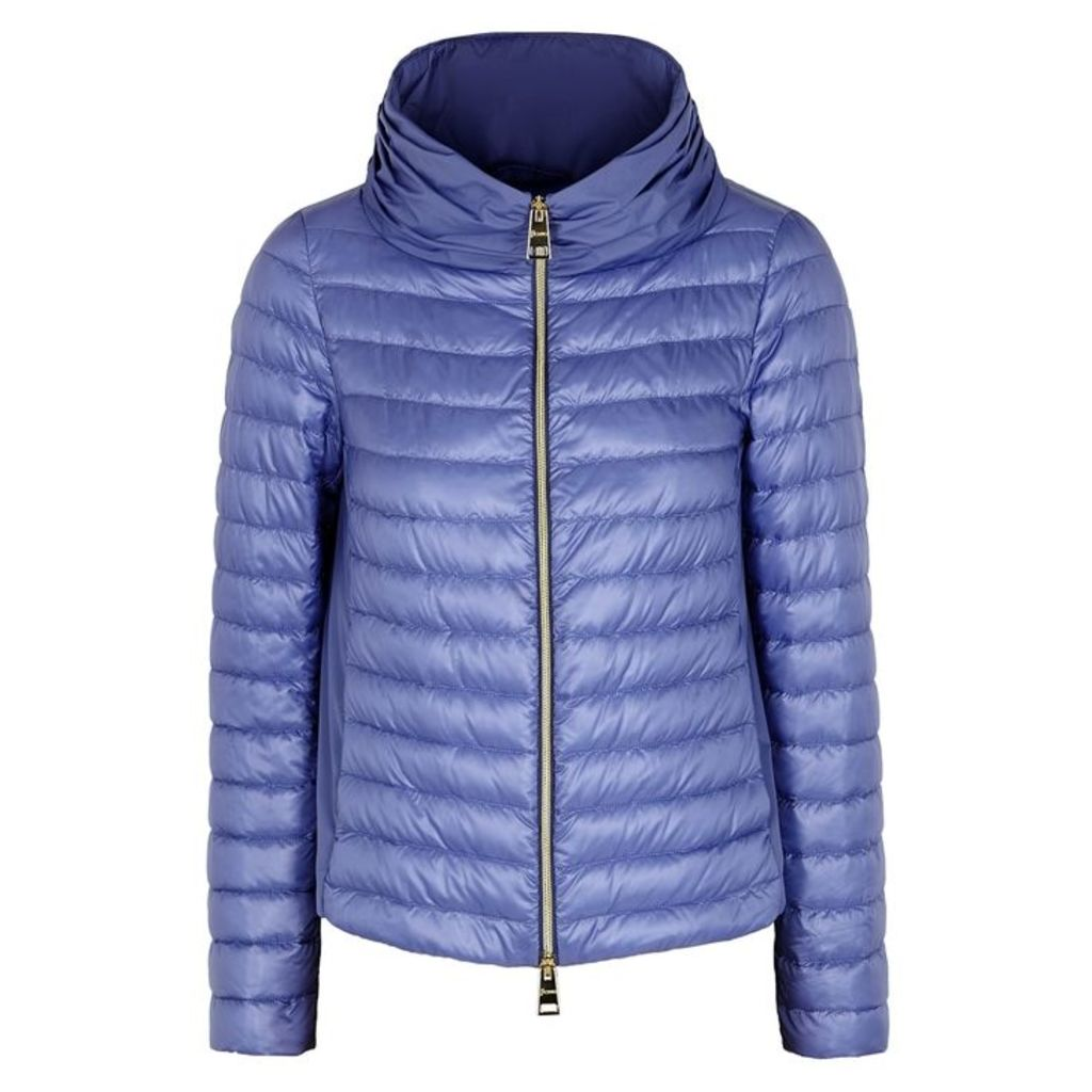 Herno Blue Quilted Shell Jacket