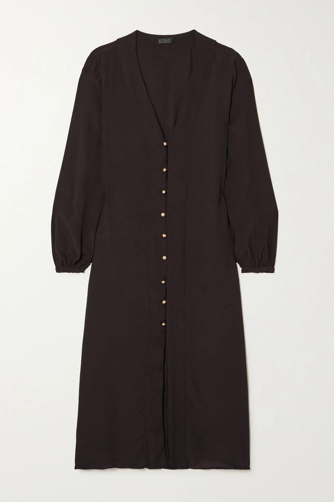 Veronica Beard - Melor Checked Cotton-blend Midi Skirt - Brown