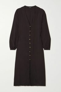 Veronica Beard - Melor Checked Cotton-blend Midi Skirt - Brown