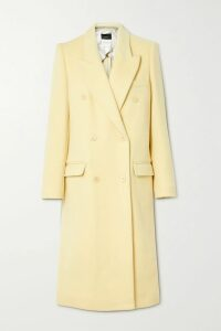 Saloni - Ida Floral-print Devoré Silk-blend Satin Midi Skirt - Black