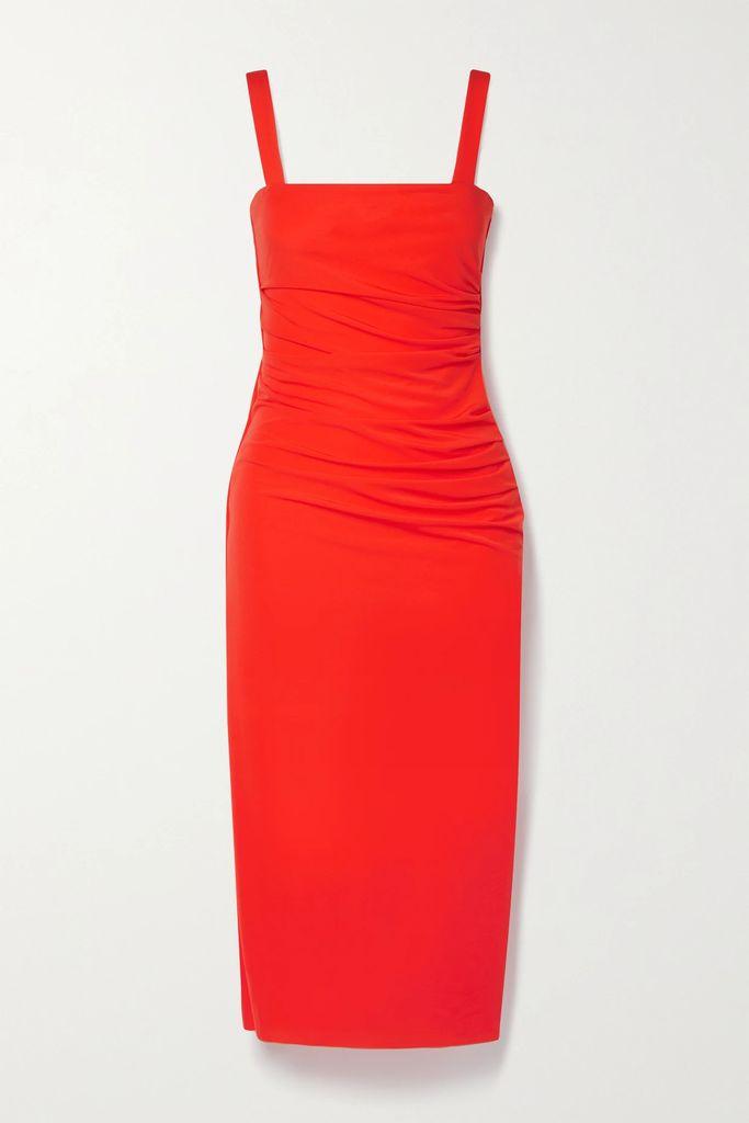 Gucci - Grosgrain-trimmed Pleated Printed Silk-twill Midi Skirt - Ivory