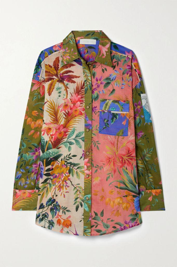 Erdem - Opaline Ruffled Embroidered Cotton-blend Midi Dress - Black