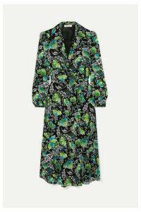 Diane von Furstenberg - Phoenix Floral-print Georgette Wrap Dress - Green