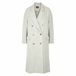 Isabel Marant Habra Double-breasted Alpaca-blend Coat