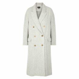 Isabel Marant Habra Double-breasted Alpaca-blend Coat
