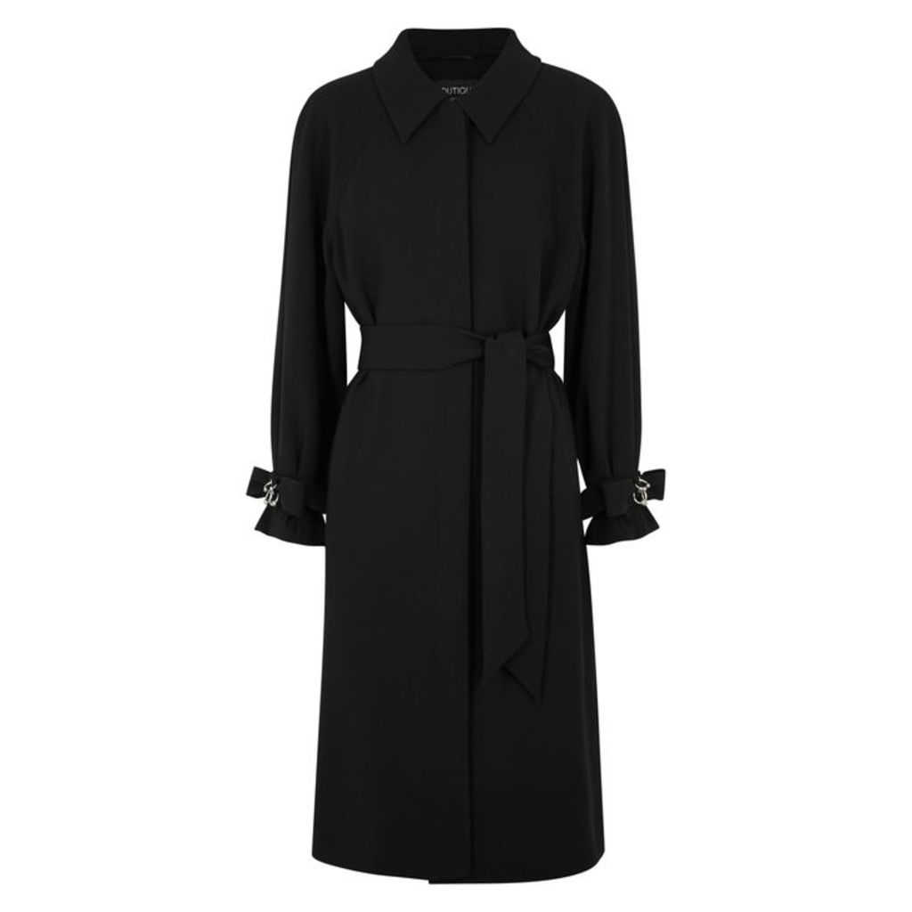 Boutique Moschino Black Pierced Trench Coat