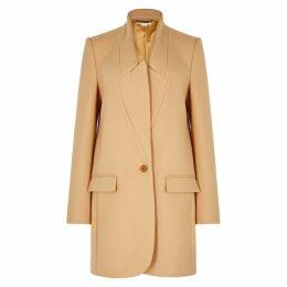 Stella McCartney Bryce Light Camel Wool Coat