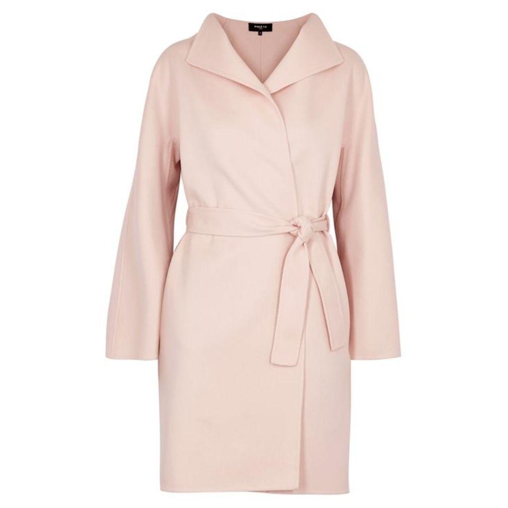 Paule Ka Pale Pink Wool-blend Coat