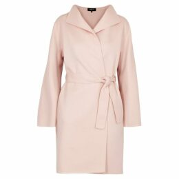 Paule Ka Pale Pink Wool-blend Coat