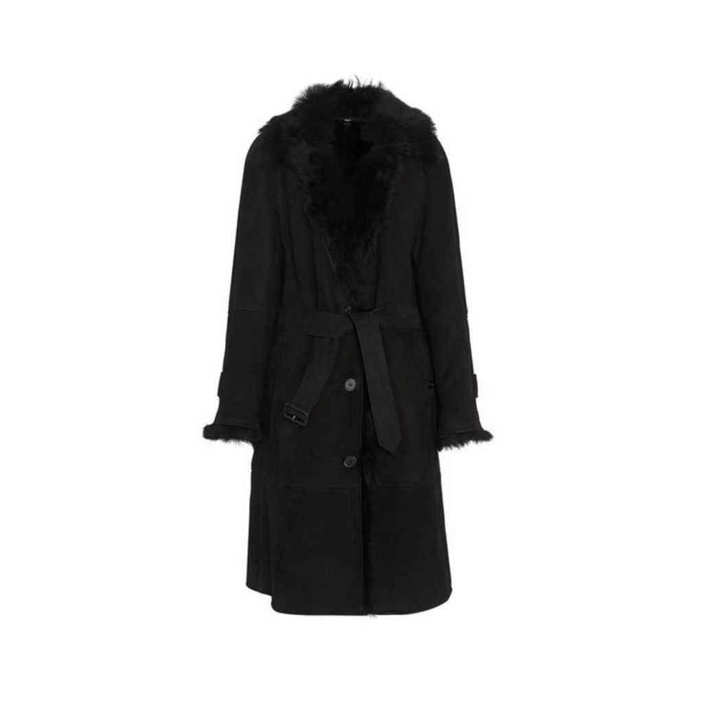 Burberry Shearling Car Coat