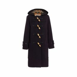 Burberry Wool Blend Oversized Duffle Coat