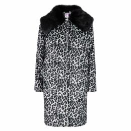 Shrimps Erin Leopard-print Faux-fur Coat