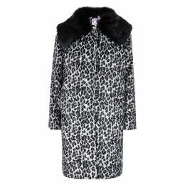 Shrimps Erin Leopard-print Faux-fur Coat