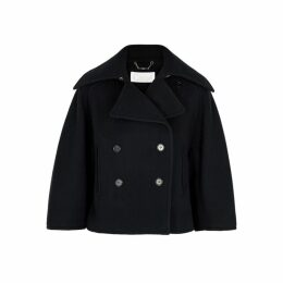 Chloé Midnight Blue Wool-blend Peacoat
