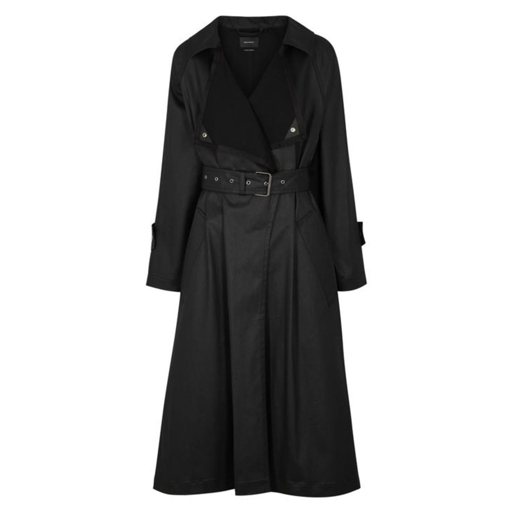 Isabel Marant Jamet Black Stretch-cotton Trench Coat