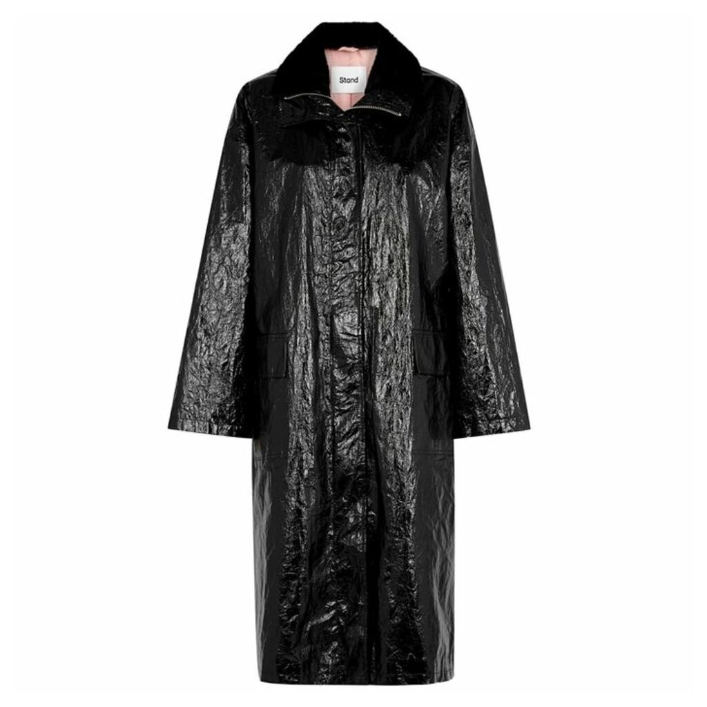 Stand Maia Black Patent Coat