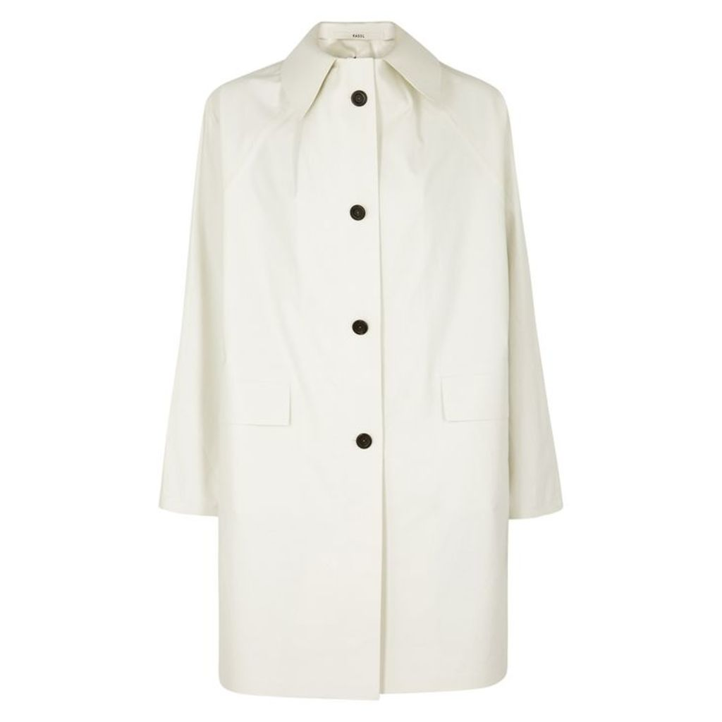 KASSL Off-white Coated Cotton-blend Coat