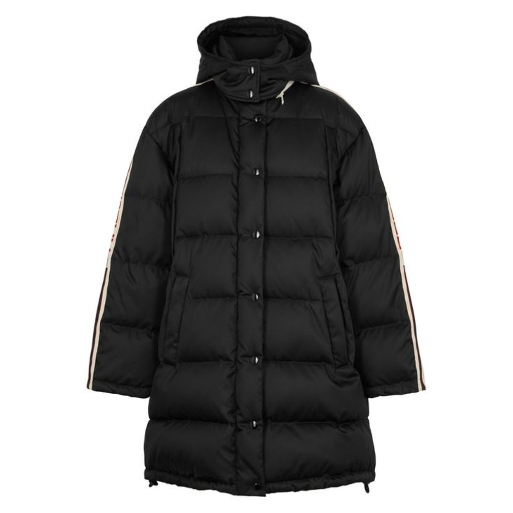 Gucci Black Quilted Shell Coat