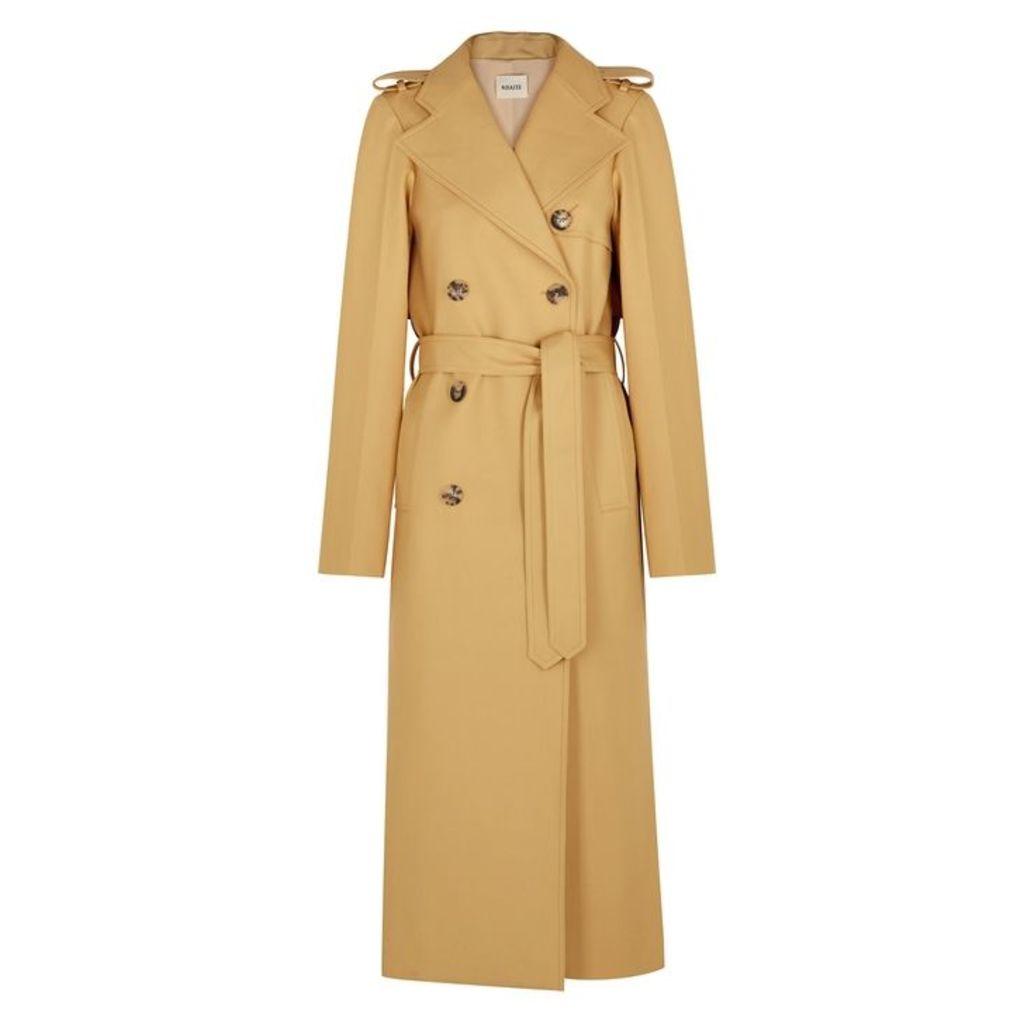 Khaite Felice Sand Cotton Trench Coat