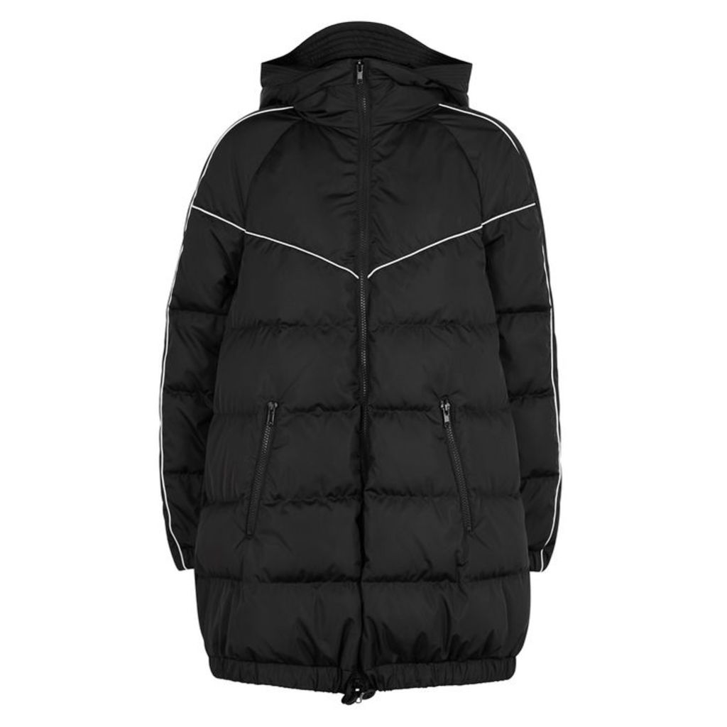 Valentino Black Quilted Shell Coat