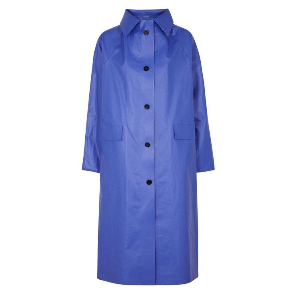 KASSL Blue Coated Cotton-blend Coat