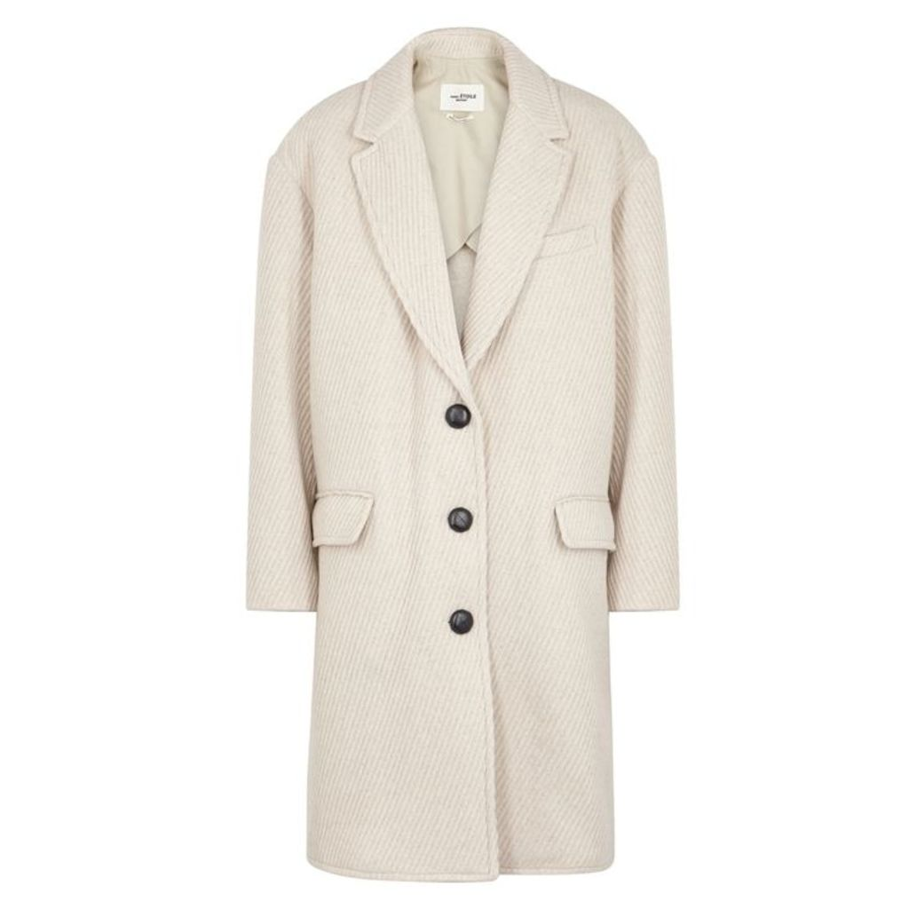 Isabel Marant Étoile Gimi Off-white Wool-blend Coat