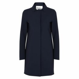 Herno Navy Stretch-neoprene Coat