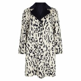 Max Mara Studio Turku Leopard-print Reversible Wool Coat