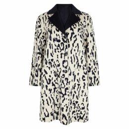 Max Mara Studio Turku Leopard-print Reversible Wool Coat