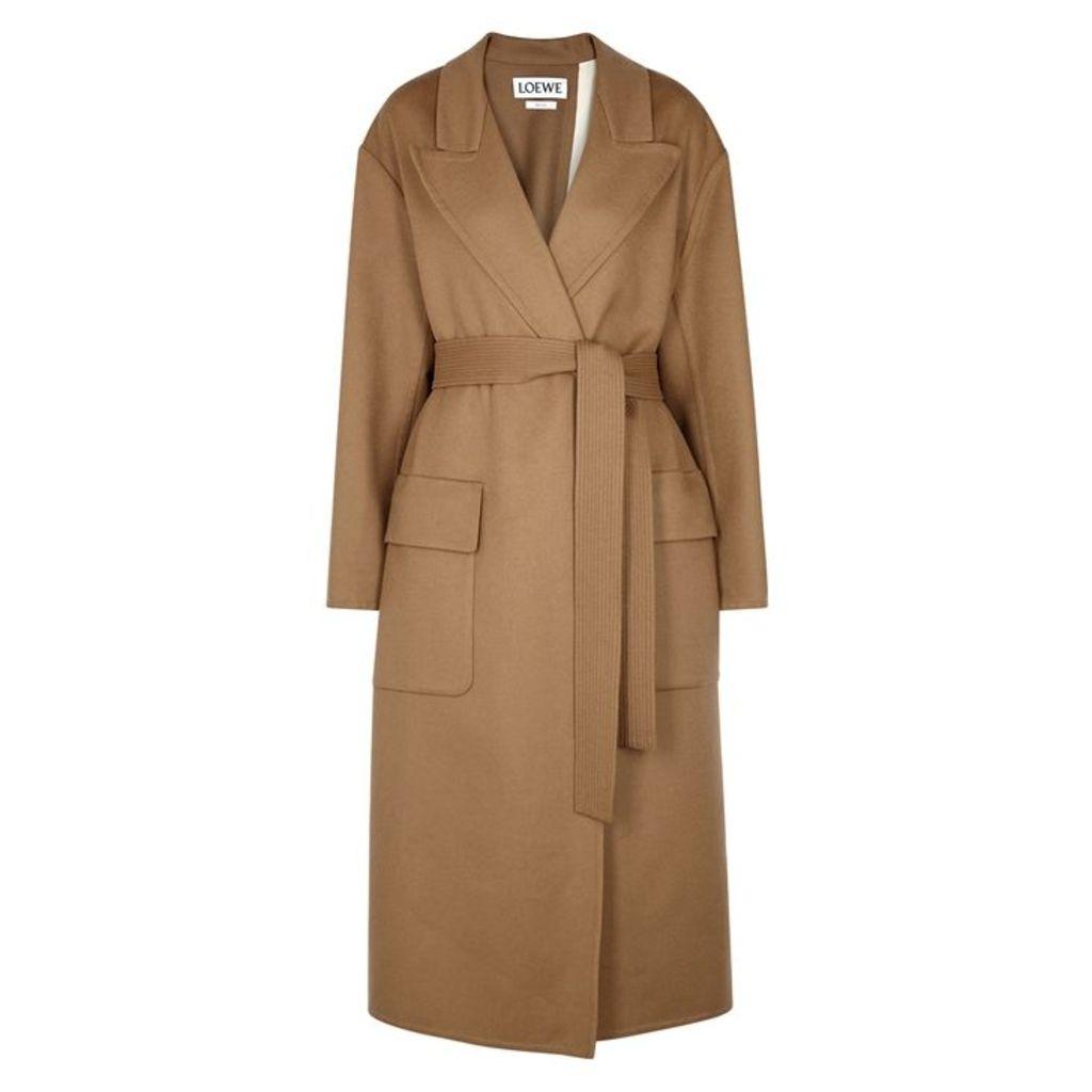 Loewe Camel Wool And Mohair-blend Coat