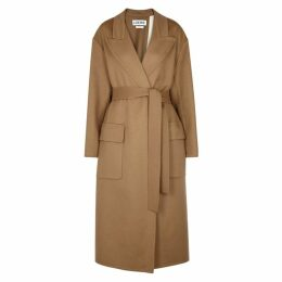 Loewe Camel Wool And Mohair-blend Coat