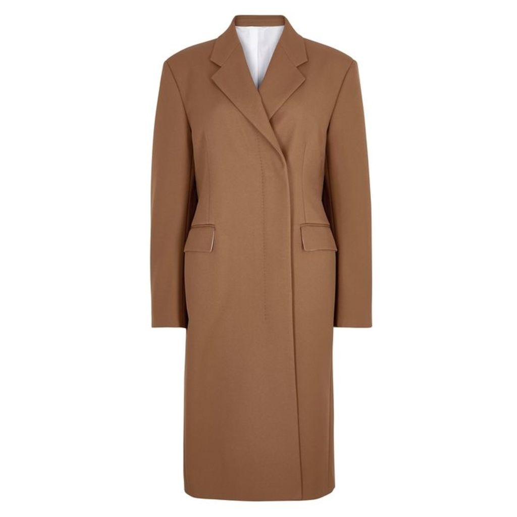 Calvin Klein 205W39NYC Brown Double-breasted Twill Coat