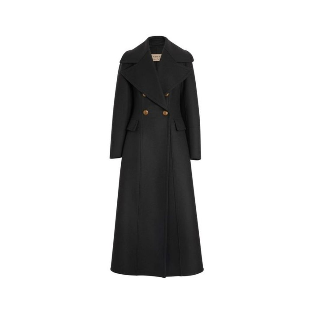 Burberry Doeskin Wool Tailored Coat