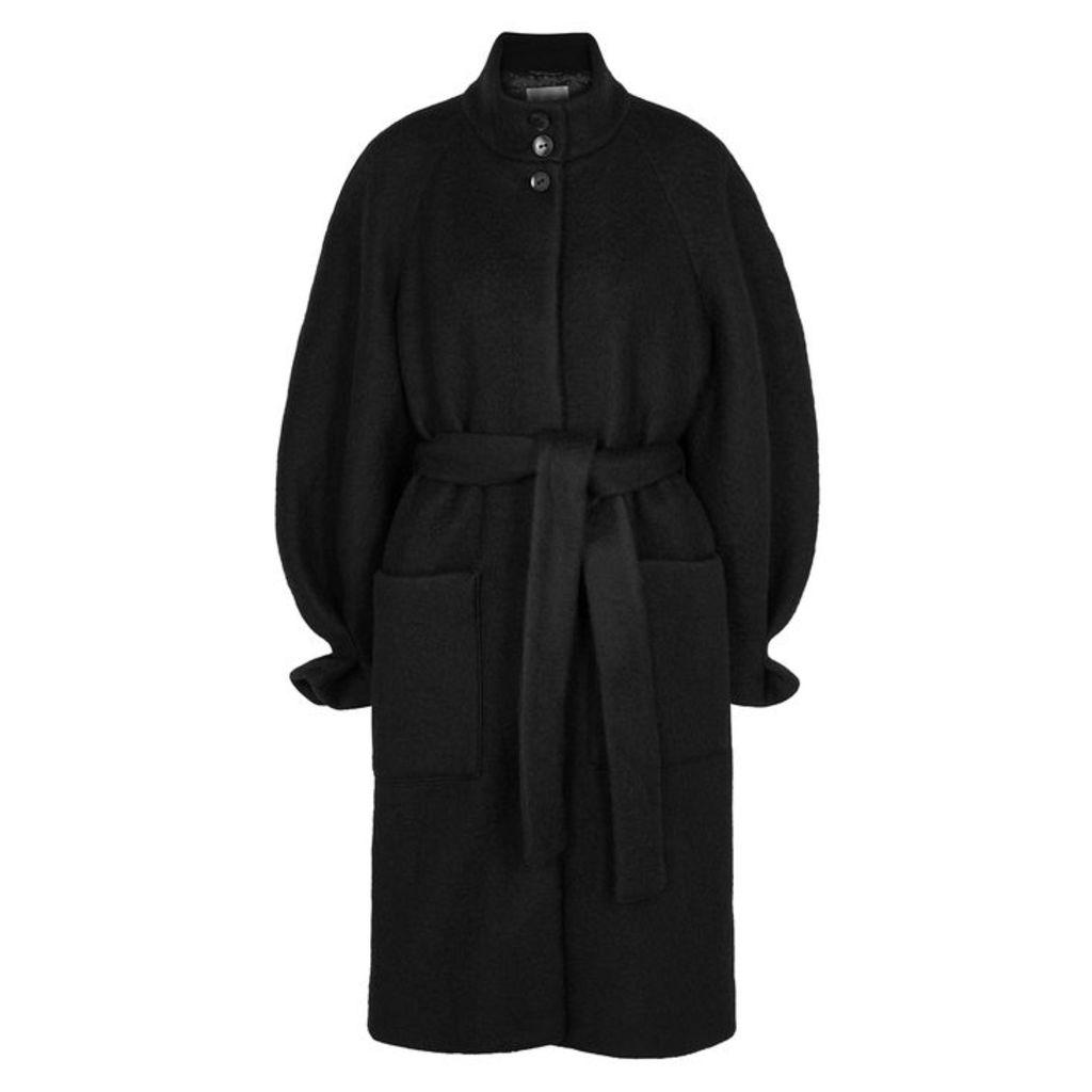 Stine Goya Celeste Black Wool-blend Coat
